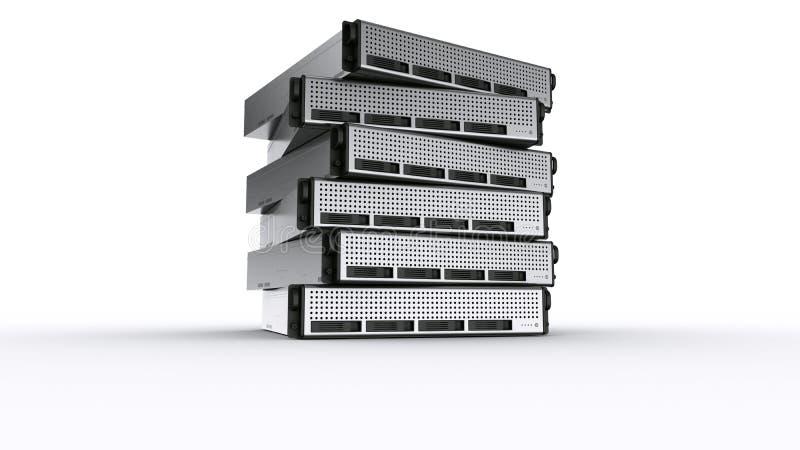 De veelvoudige servers van het Rek royalty-vrije illustratie
