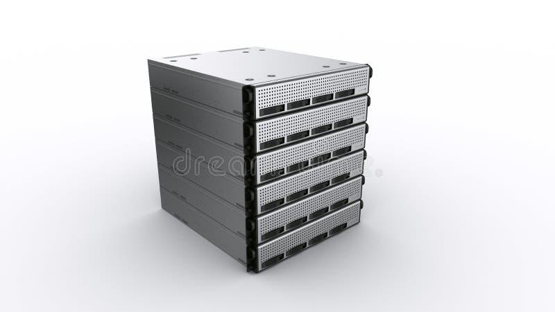 De veelvoudige servers van het Rek vector illustratie