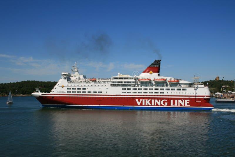 De veerboot van de Lijn van Viking op eilanden Aland stock afbeelding