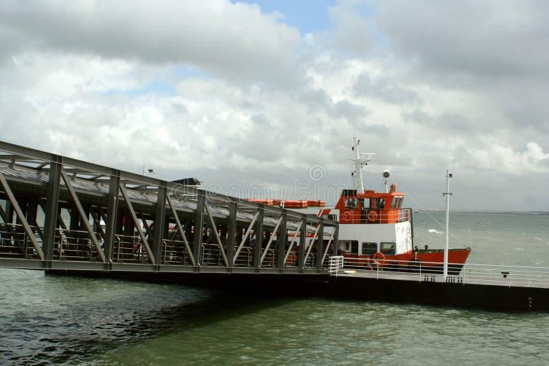 De veerboot van Lissabon royalty-vrije stock afbeeldingen