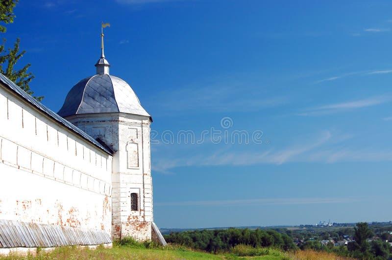 De veertiende eeuwklooster in Pereslavl, Rusland stock fotografie