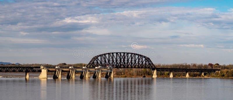 De Veertiende Straatbrug in Louisville royalty-vrije stock afbeeldingen