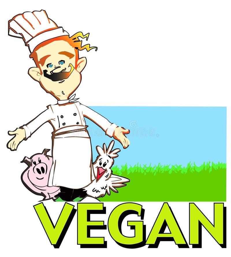 De veganistkok van de REEKS van de BAAN royalty-vrije illustratie