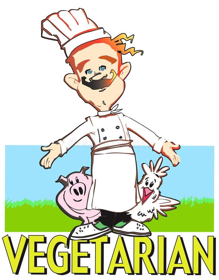 De vegetarische kok van de REEKS van de BAAN vector illustratie
