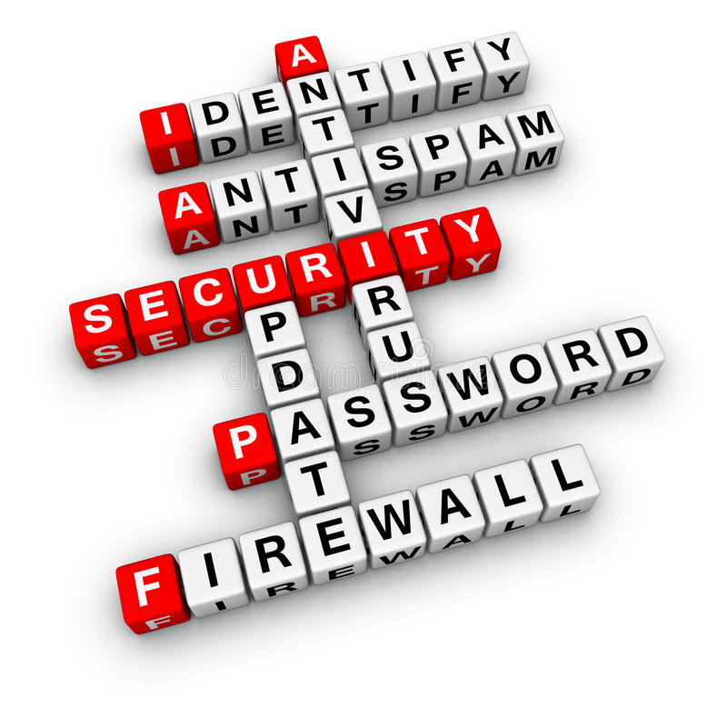 De veiligheid van de computer stock illustratie