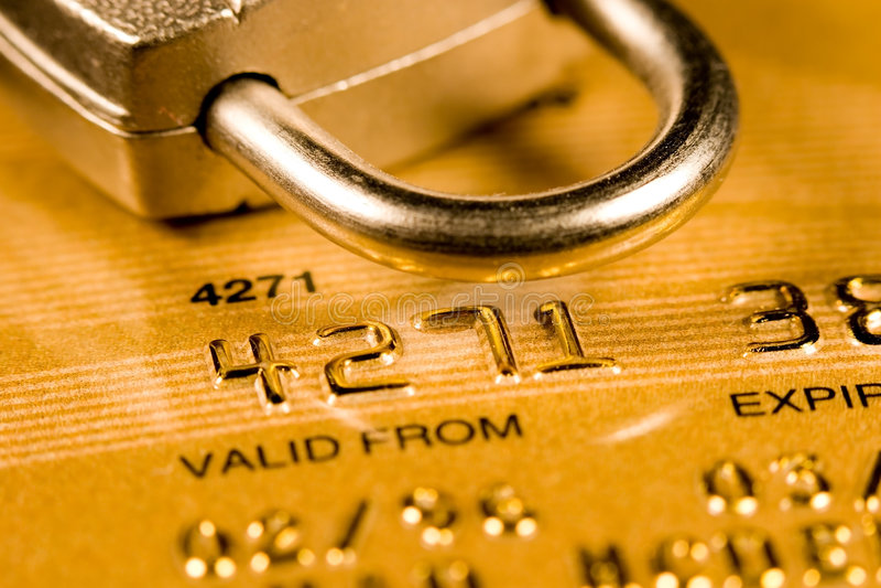 De Veiligheid van de Creditcard royalty-vrije stock foto's