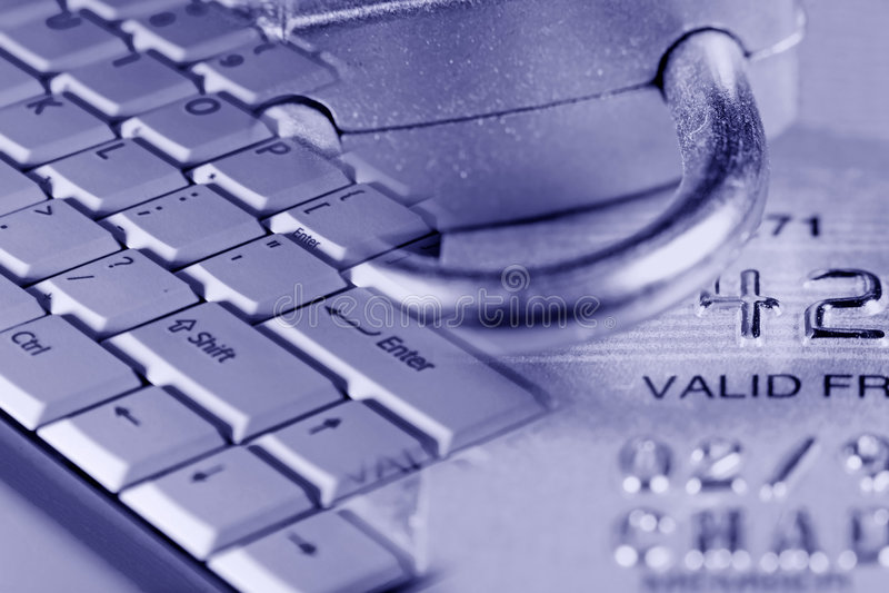 De Veiligheid van de Creditcard royalty-vrije stock foto