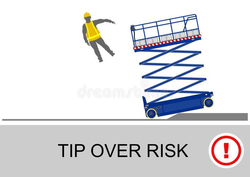 De veiligheid van de schaarlift vector illustratie