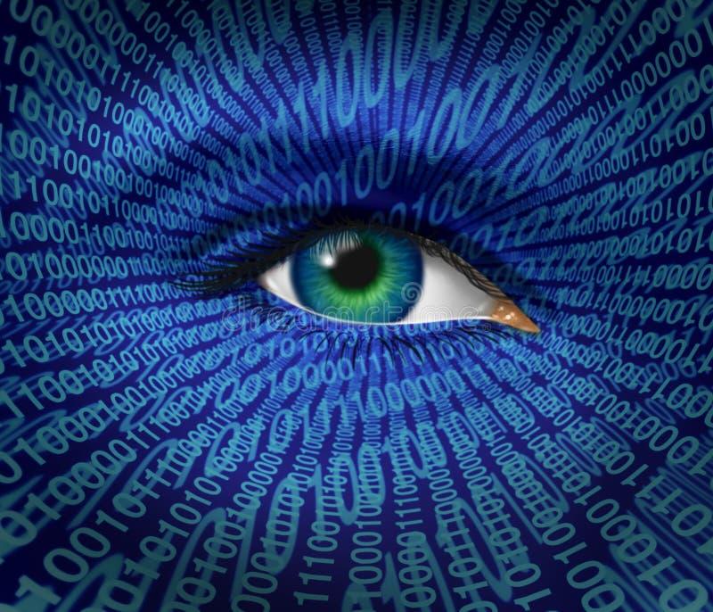De Veiligheid van de technologie royalty-vrije illustratie