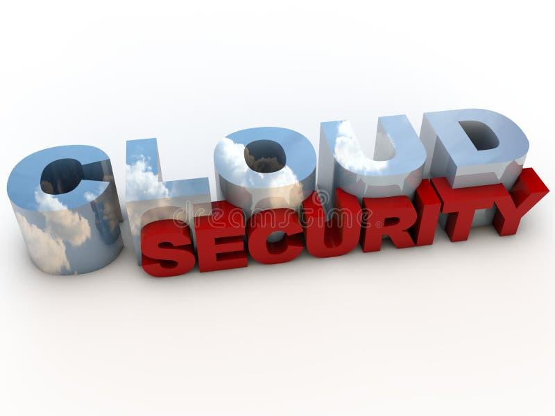 De Veiligheid van de wolk stock illustratie