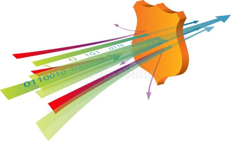 De veiligheid van gegevens stock illustratie
