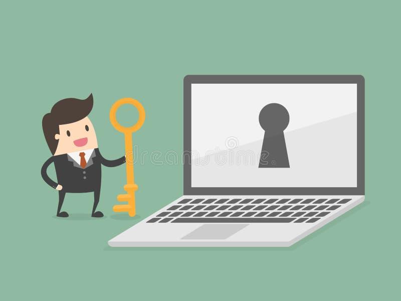 De veiligheid van gegevens Bedrijfs conceptenillustratie royalty-vrije illustratie
