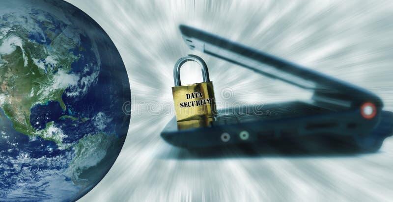 De veiligheid van gegevens in de wereld. stock fotografie