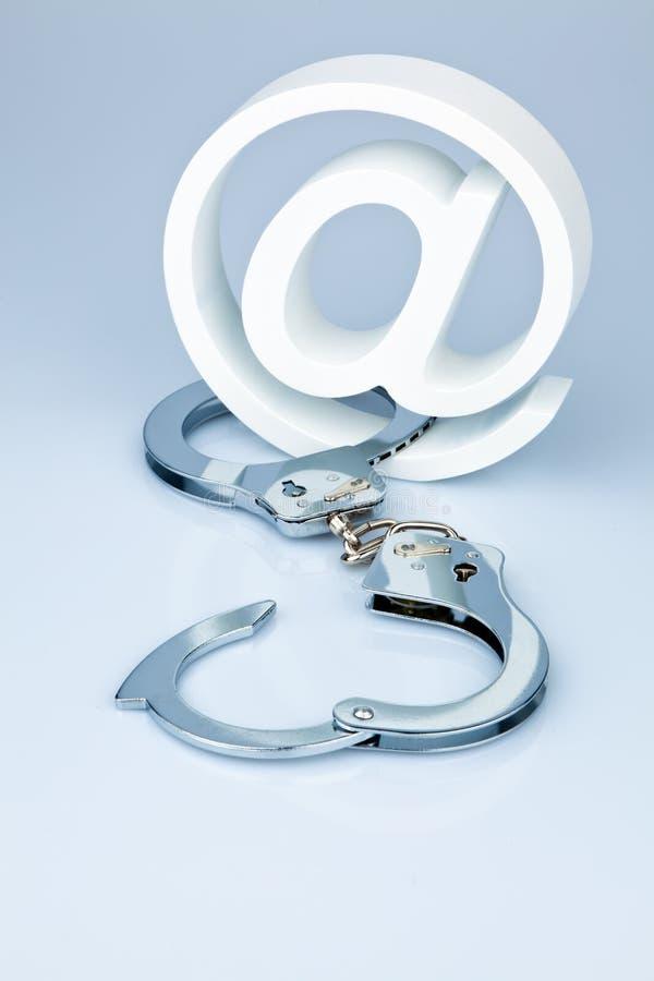 De veiligheid van gegevens op Internet. Het veilige surfen. stock foto's