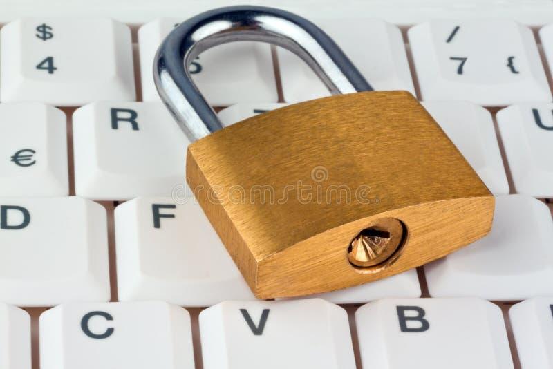 De veiligheid van gegevens voor computers stock afbeeldingen