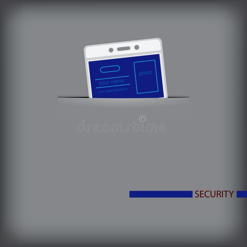 De veiligheid van het bureau royalty-vrije illustratie