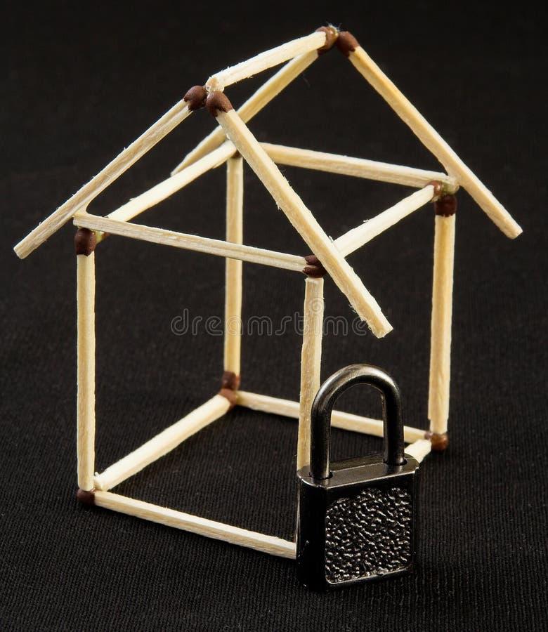 De veiligheid van het huis stock foto