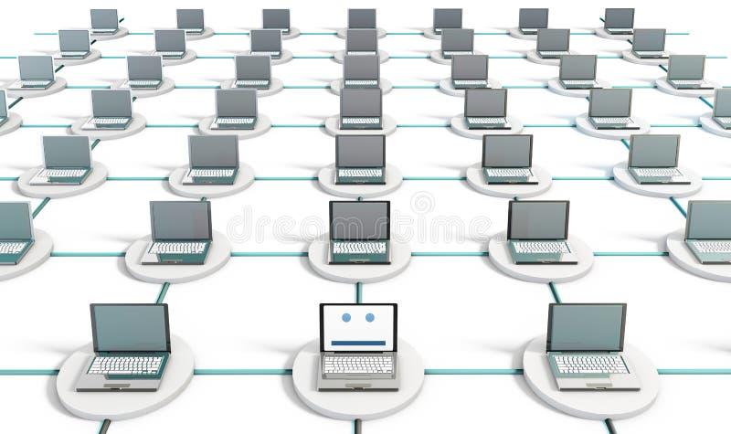 De Veiligheid van het netwerk stock illustratie