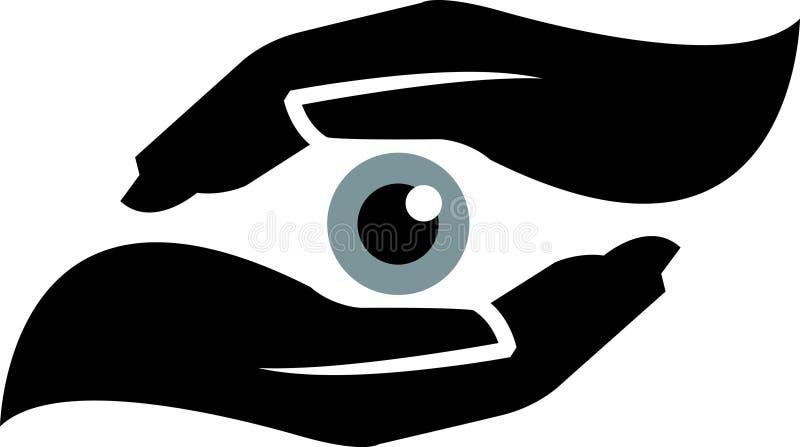 De veiligheid van het oog stock illustratie