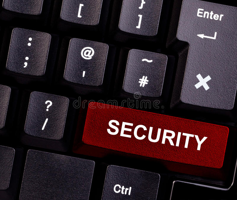 De veiligheid van het toetsenbord royalty-vrije stock foto's