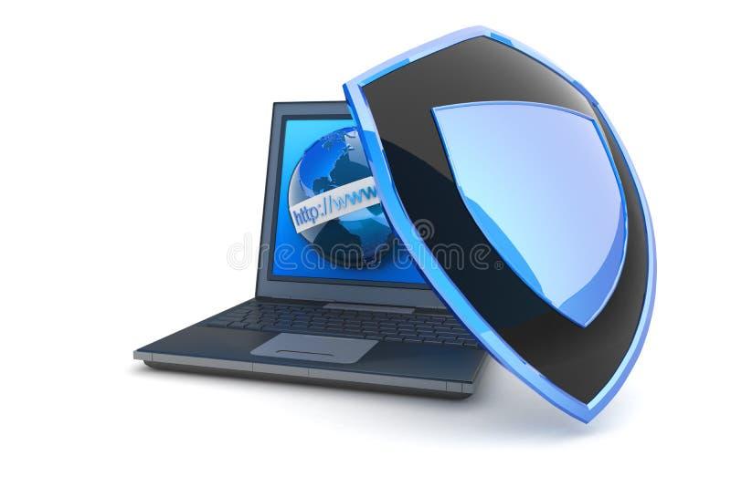 De veiligheid van Internet stock illustratie