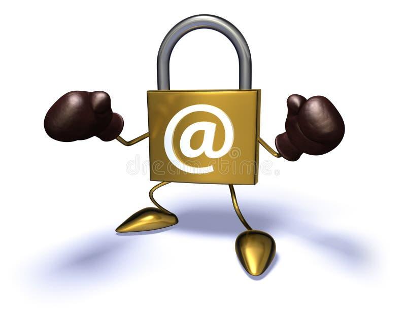 De veiligheid van Internet royalty-vrije illustratie