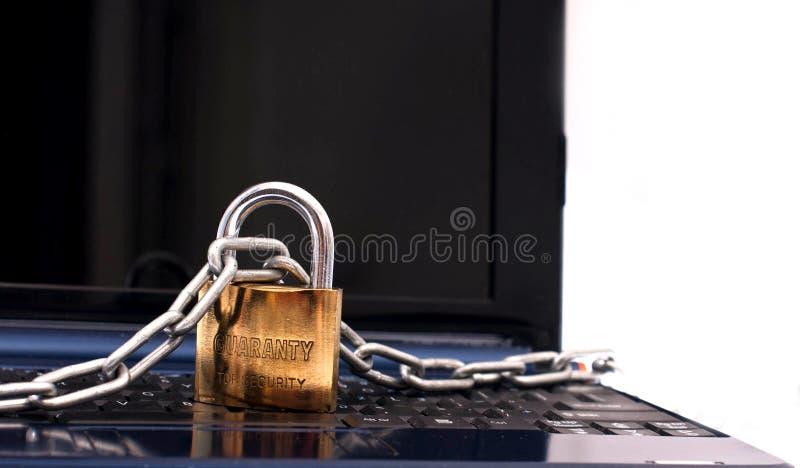 De veiligheid van Netbook royalty-vrije stock foto's