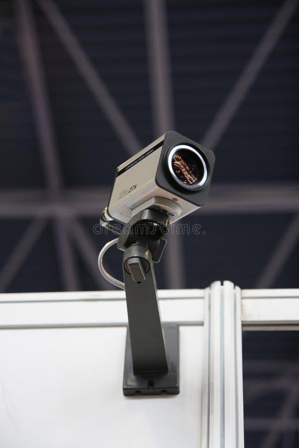 De veiligheidscamera van kabeltelevisie. stock foto
