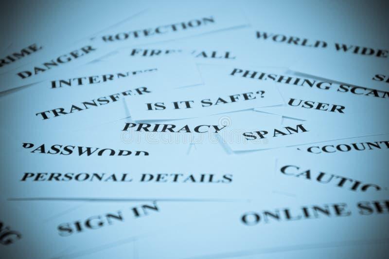 De veiligheidscollage van Internet stock afbeeldingen