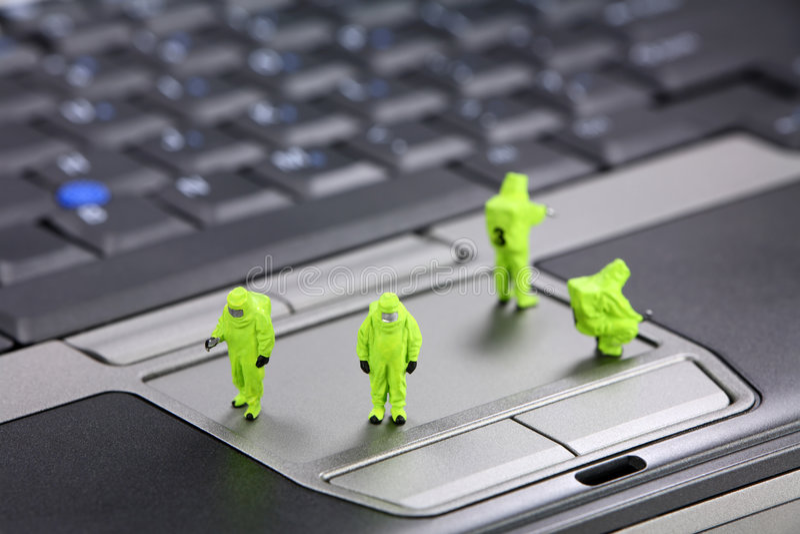 De veiligheidsconcept van de computer royalty-vrije stock afbeelding