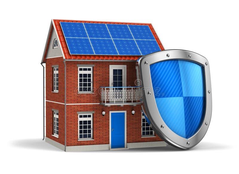 De veiligheidsconcept van het huis royalty-vrije illustratie