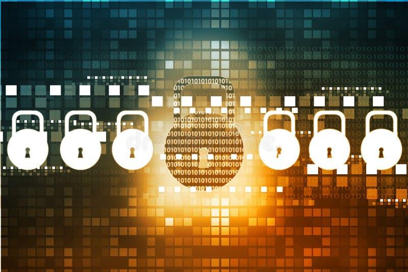 De veiligheidsconcept van Internet royalty-vrije illustratie