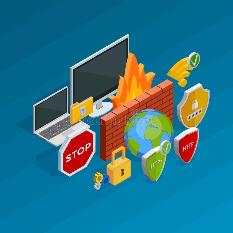De veiligheidsconcept van Internet stock illustratie