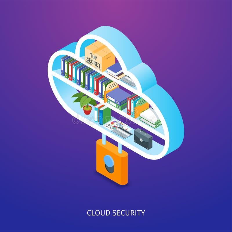 De veiligheidsconcept van de wolk vector illustratie