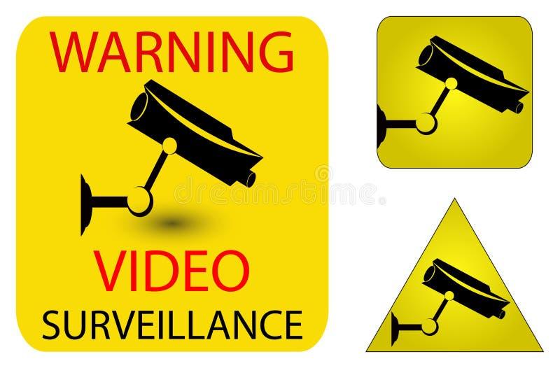 De veiligheidspictogrammen van de camera vector illustratie