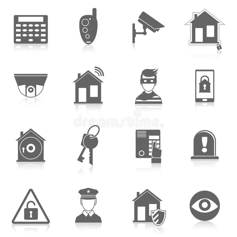 De veiligheidspictogrammen van het huis stock illustratie