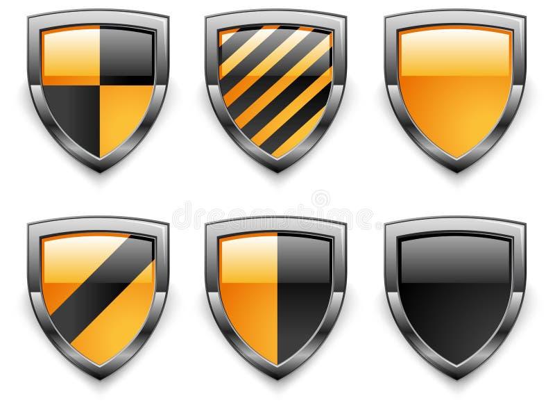 De veiligheidspictogrammen van het schild vector illustratie