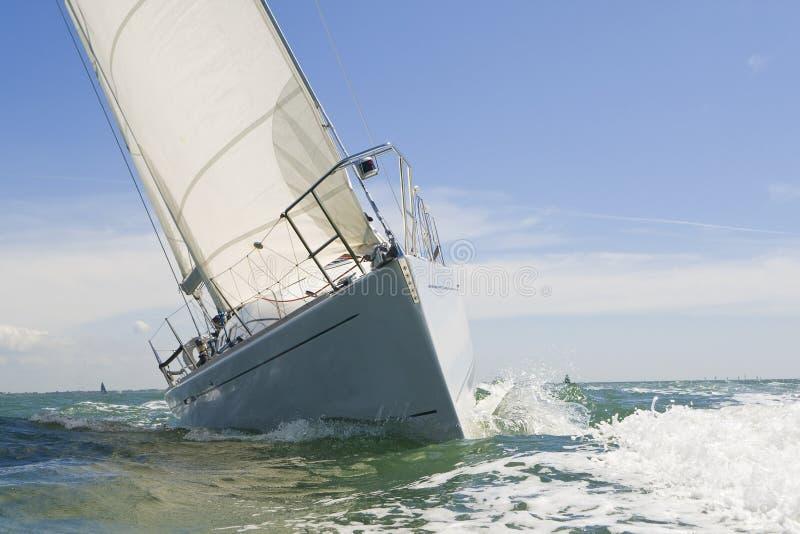 De vela do barco fim acima fotografia de stock