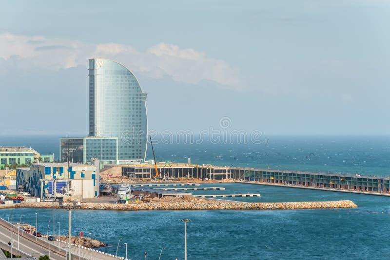 De Velum van het hotelw Barcelona Hotel in Spanje stock afbeelding