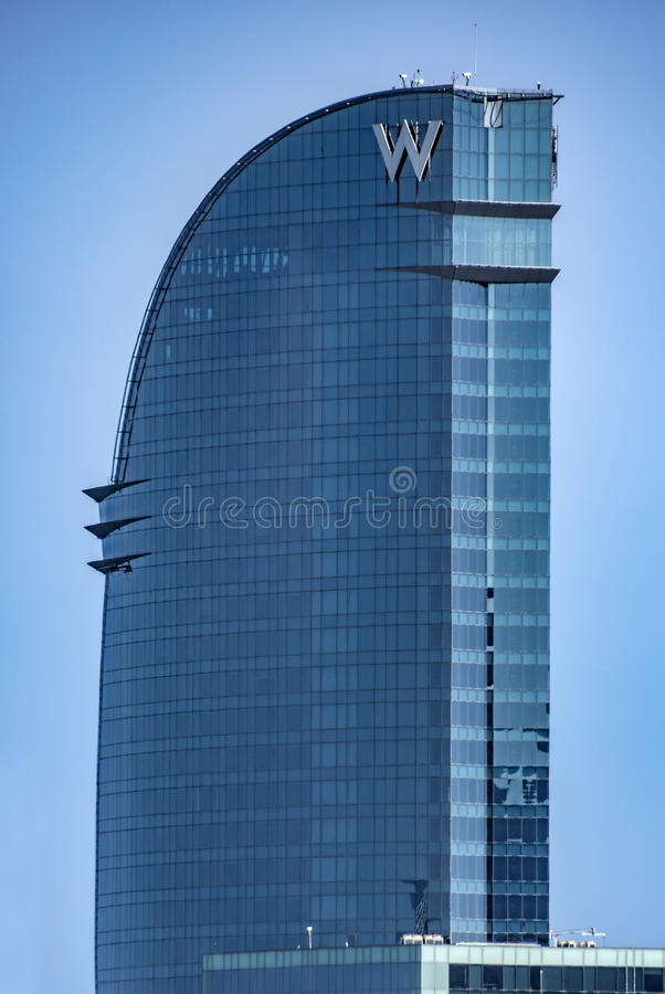 De Velum van het wolkenkrabberhotel royalty-vrije stock foto