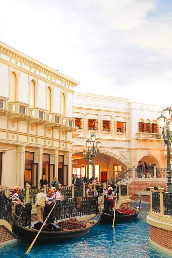 De Venetiaanse hotelreplica van een Groot kanaal in Las Vegas royalty-vrije stock foto