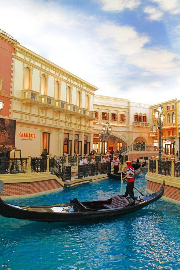 De Venetiaanse hotelreplica van een Groot kanaal in Las Vegas royalty-vrije stock foto's
