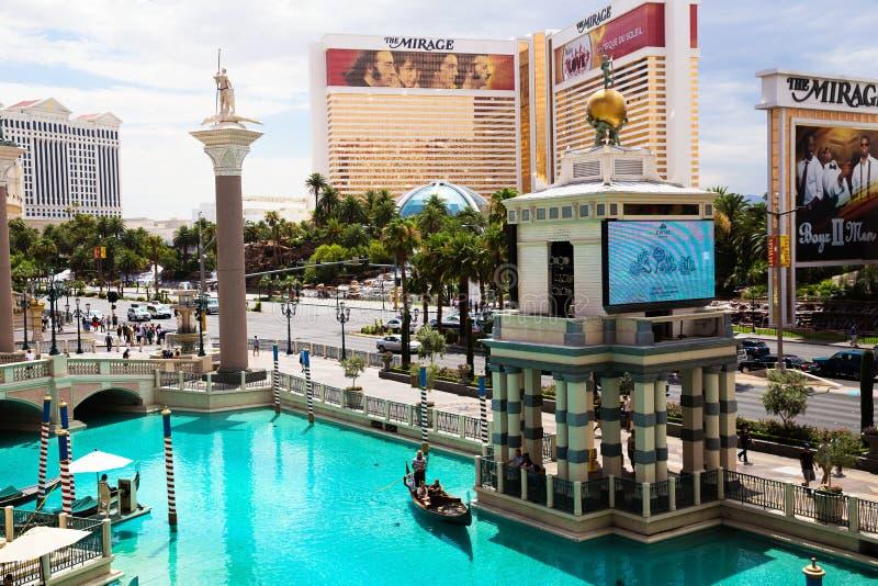 De Venetiaanse Toevlucht van het Casinohotel op de Strook van Las Vegas stock foto's