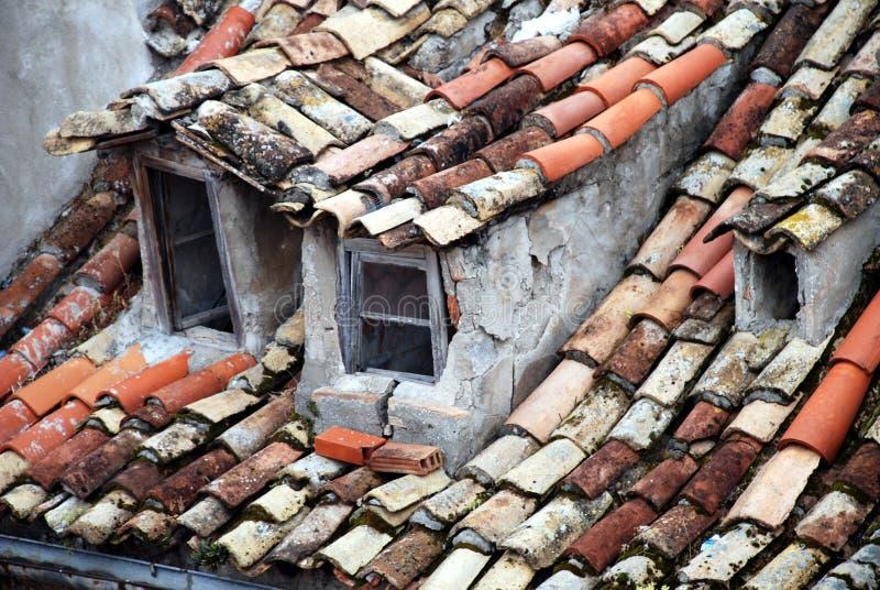 De vensters van Dubrovnik stock afbeeldingen
