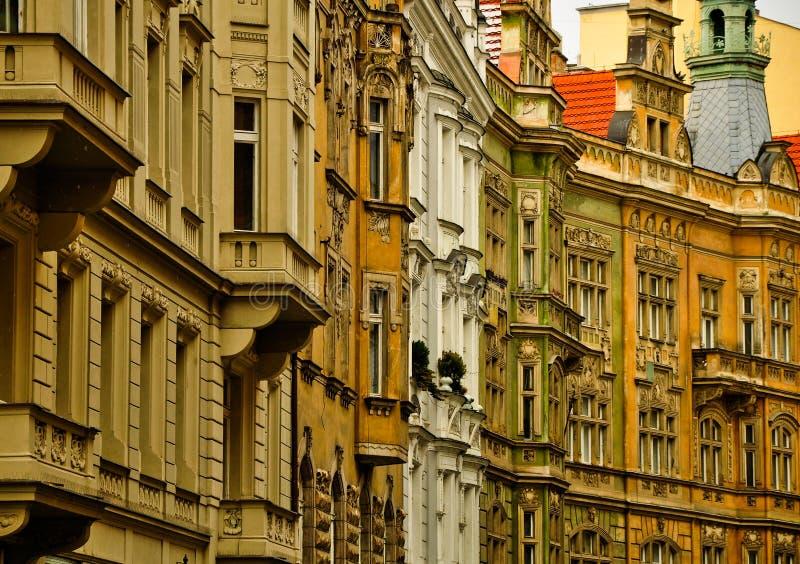 De vensters van Praag royalty-vrije stock fotografie