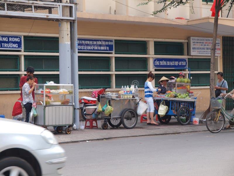 De Venters van de kant van de weg in Vietnam stock afbeelding