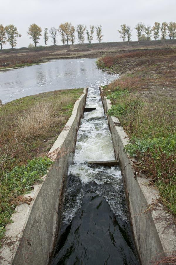 De ventilatiesysteem van het water stock fotografie