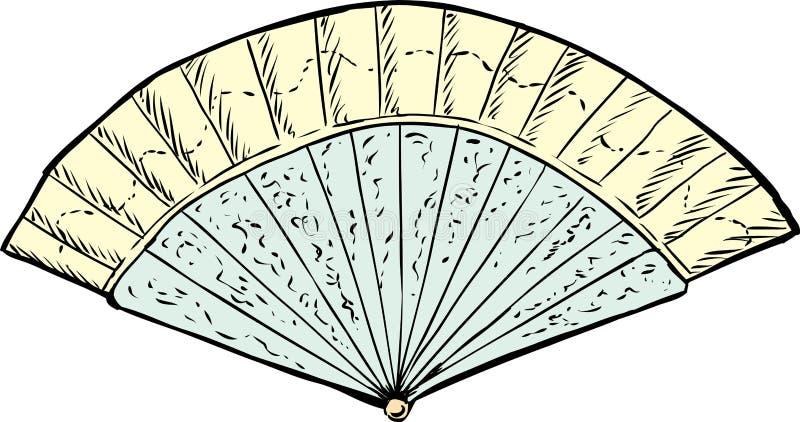 de Ventilator van de de 18de Eeuwhand vector illustratie