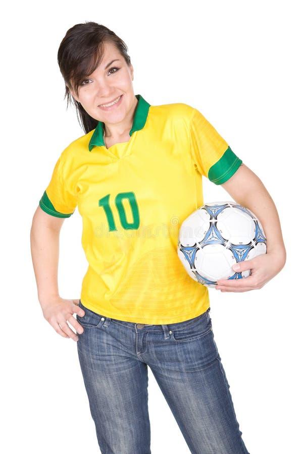 De ventilator van de voetbal royalty-vrije stock afbeeldingen