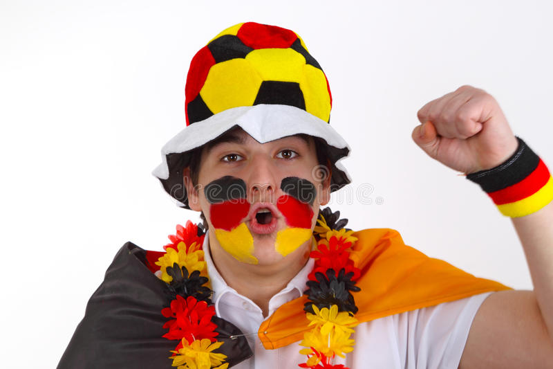 De ventilator van het voetbal stock fotografie